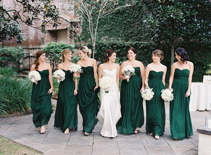 Robe demoiselle d'honneur verte longue bustier coeur
