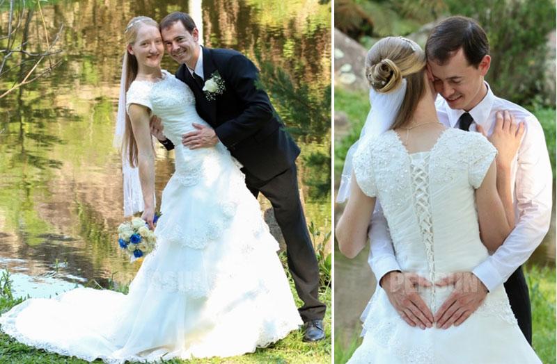 robe de mariée princesse avec manche courte