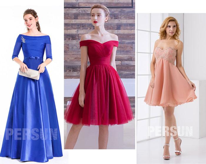 robes de soirée pour femme en forme de poire