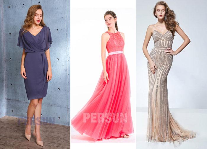 robes de soirée pour femme en forme de sablier