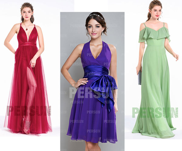 robes de soirée pour femme en forme de pomme