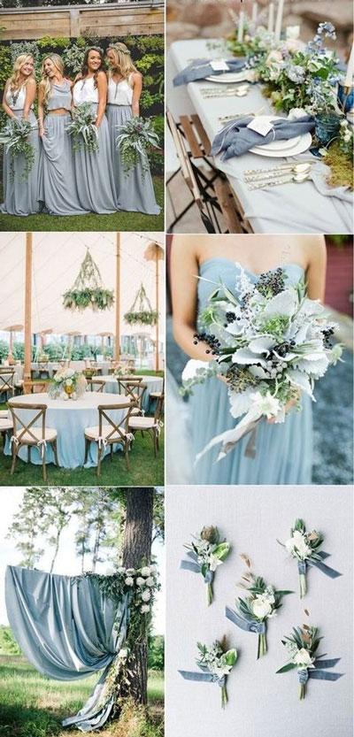 couleur de mariage bleu poudré