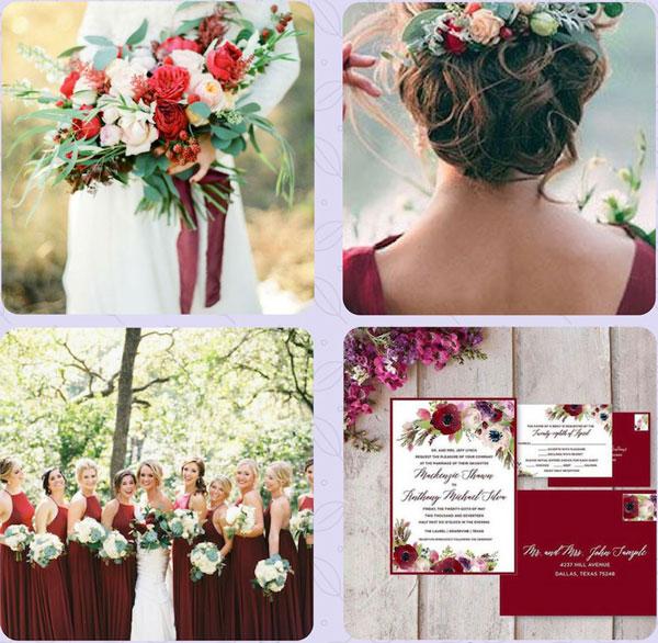 couleur de mariage rouge