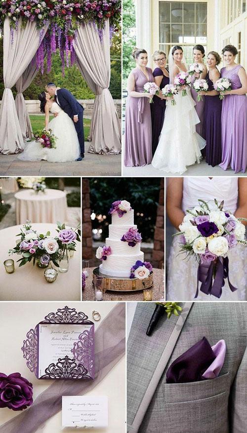 couleur de mariage violet