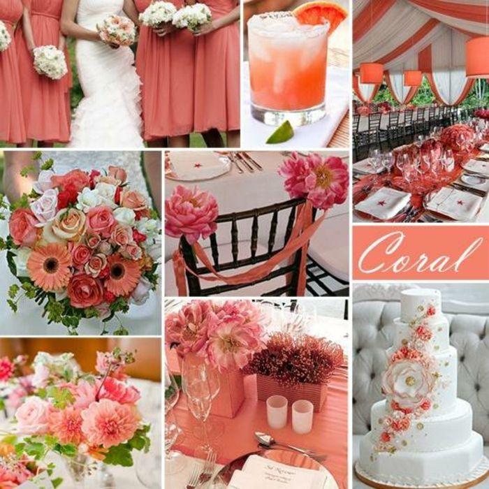 couleur mariage corail 2019