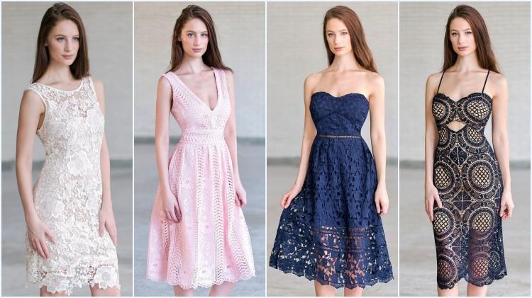 robes de soirée courtes en différentes couleur