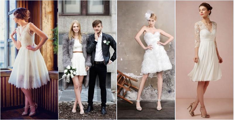 robes de mariée courtes